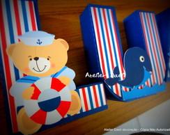 Letra 3d ursinho marinheiro
