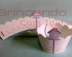 Wrapper para Cupcake Casa de Passarinho