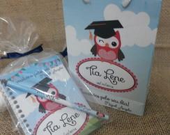 Kit - caderneta e l�pis personalizados