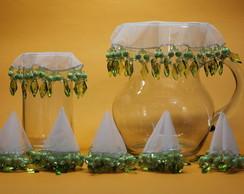 Cobre jarra e cobre copo