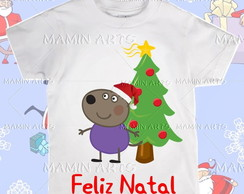 Camiseta Divertida Peppa de Natal
