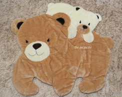 Tapete Urso e Filhote Bege- Frete Gr�tis