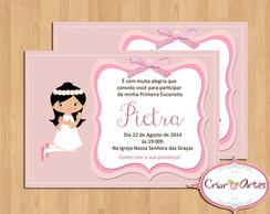 Convite Primeira Comunh�o - Rosa