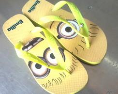 Havaianas personalizada Minions Amarela