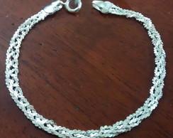 Pulseira 4 fios cabelo de Anjo em Prata