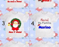 Camiseta Infantil e Adulto de Natal