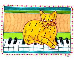 P�ster 'Gato no piano'