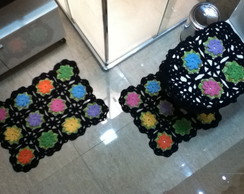 Jogo de banheiro - Flores Bnh 085