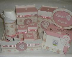 kit higiene rosa com Borboleta