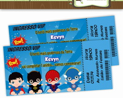 Convite Ingresso Super Her�is Baby