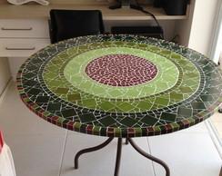 Tampo para mesa de mosaico