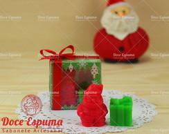 Sabonete Papai Noel e presente