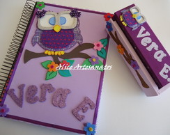 Kit Caderno e Caixa de giz com apagador