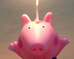 Vela anivers�rio 3d Peppa Pig ou George