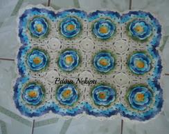 tapete floral de croch�