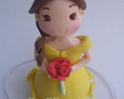 princesa Bela topo de bolo