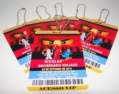 """Convite Credencial """" Lego Ninjago"""""""