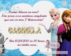Convite Frozen - 3
