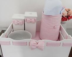 Kit Higiene Floral Mini Rosa Beb� - 5p�s