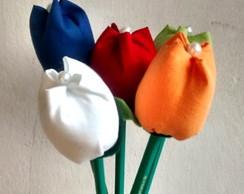 Tulipa de tecido (l�pis verde)