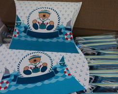 Caixa Travesseiro Ursinho Marinheiro