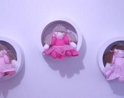 Trio de nichos redondos G com princesa