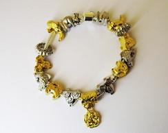 Pulseira Pandora Dourada - Frete Gr�tis