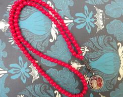 Japamala red foto Srimurthi-Medalha