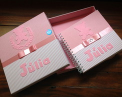 Livro de Assinaturas (ursinha rosa)