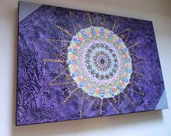 """Mandala """"CAMINHO DO SOL"""" - 40X60 Cm"""