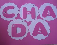 Varal de Letras Nome Ch� de Beb�/Cozinha