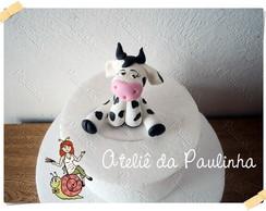 topo de bolo vaca em biscuit