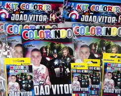 Revista Kit Colorir Os Vingadores