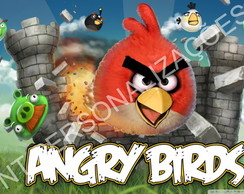 Painel com ilh�s Angry Birds