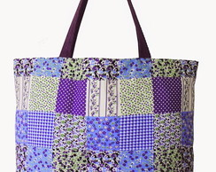 Maxi ecobag estampa patchwork