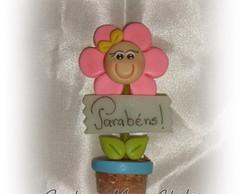 Im� flor no vasinho c/ mensagem