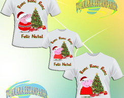 Kit Camiseta - Peppa Pig Natal