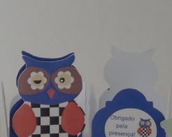 Formas de Doces Coruja (Azul)