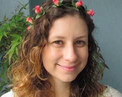 Coroa de Flores Mini Rosas Vermelhas