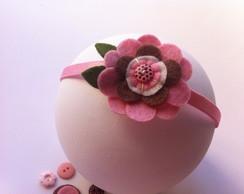 Faixa El�stica Flor Rosa