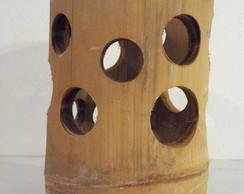 Porta velas em bambu
