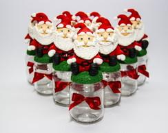 Vidros tampa biscuit Papai Noel