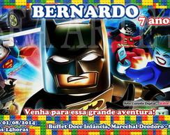 Arte Convite Digital - Lego Heroes