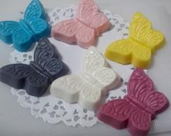 Borboletas em mini sabonetes