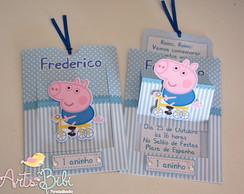 Convite George Pig Janelinha