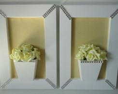 Quadro Flores Amarelo-Pronta Entrega