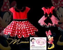 Vestido Minnie Vermelha Chic