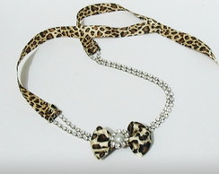 faixa MARI animal print on�a la�o 5cm