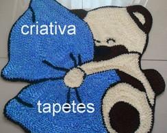 tapete urso travesseiro