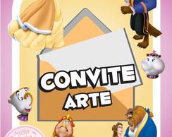 Convite (Arte) - A Bela e a Fera